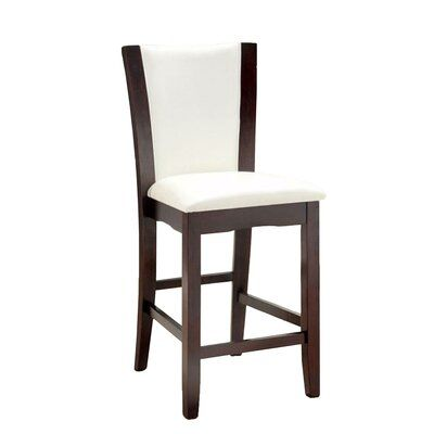 Latitude Run Ledonne Upholstered Dining Chair Counter Height Chairs Solid Wood Dining Chairs White Dining Chairs