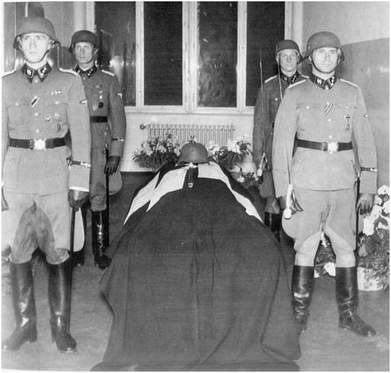 1942 - Reinhard Heydrich, brutal Nazi governor, has died of his infected wounds 6 days after Czech assassins blew up his car. Good - hope the bastard suffered!: