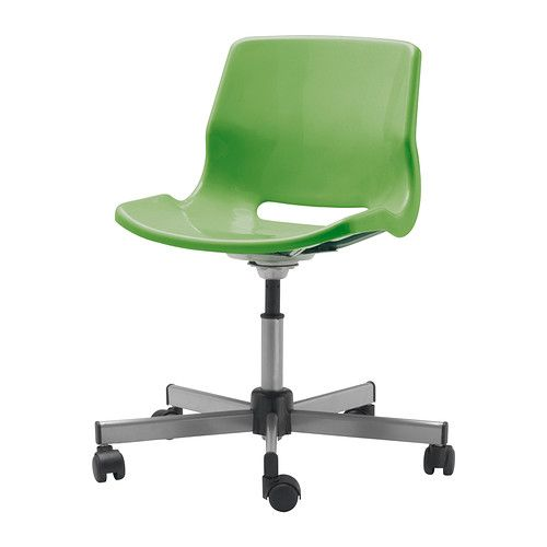 Green Desk Chairs snille silla giratoria ikea altura fácil de regular para mantener