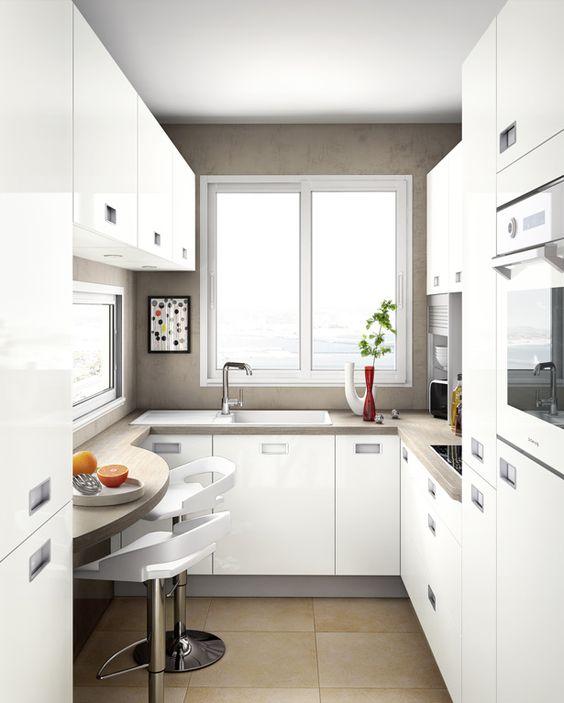 Cuisines petits espaces recherche armoires et ranger for Hauteur d une cuisine