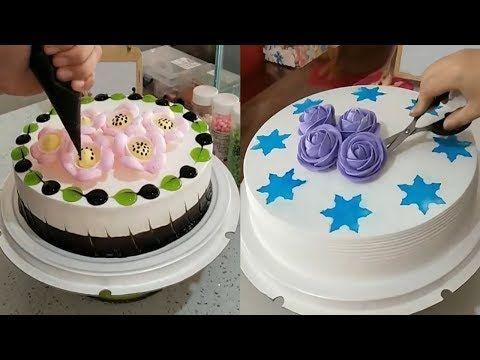 اجمل الافكار لتزيين كيكة العيد تعلمي اخر الحيل لعمل التورته في المنزل Youtube Chocolate Biscuits Desserts Cake