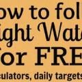idea #17. How to follow Weight Watchers for FREE. Really.: Weight Watchers, Weight Watcher Points, Weight Loss, Follow Weight, Watchers Calculator, Watchers Recipe, Weightwatchers, Free Weights, Points Calculator