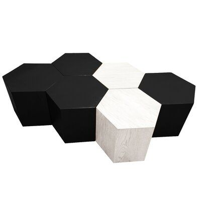 Hammers And Heels Solid Wood Block Coffee Table Size 16 H X 20