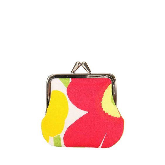 Marimekko Purse - Mini Kukkaro - 201 Red/Pink/Yellow – Kiitos living by design