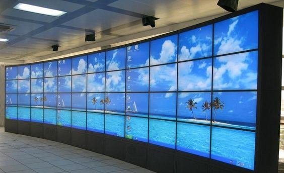 """46"""" floor standing 12x4 5.3mm brand LCD panel led Video wall with Full HD 1920*1080 Video Surveillance CCTV Monitor Display"""