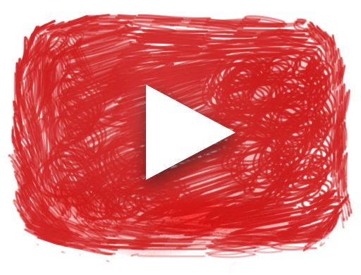 Youtube logo made in Wacom Pen Tablet by @wormiswhite