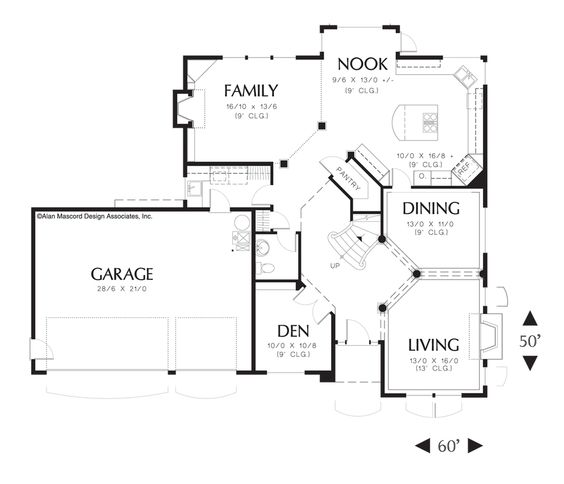white column house plans home design and style