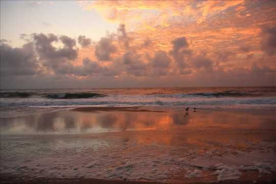 Sunrise on the Outer Banks.