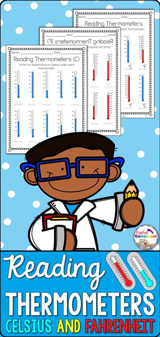 Reading Thermometers Worksheet in 2020 | Science skills