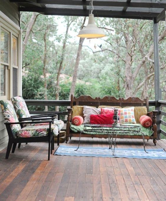 The verandah at Paula Mills' Melbourne home.