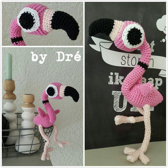 Betty the flamingo. Zoomigurumi #5