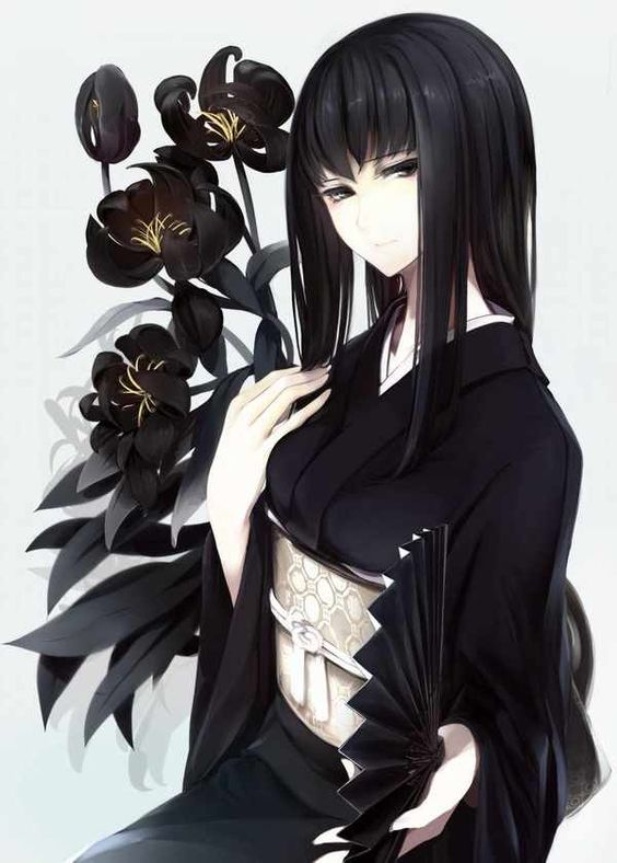 anime girl black hair tumblr - Pesquisa Google: