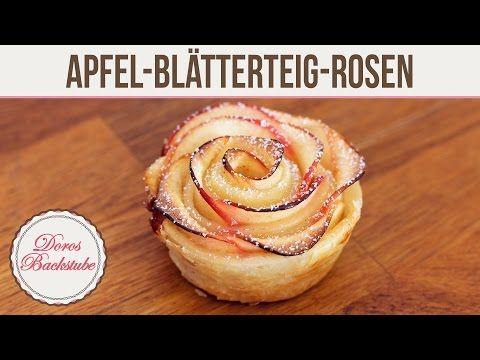▶ Apfel-Blätterteig-Rosen   Doros Backstube - YouTube