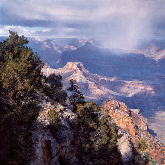 How Do You Paint a Natural Wonder? - Plein Air Blog - Blogs - Artist Daily Plein air painting by Curt Walters