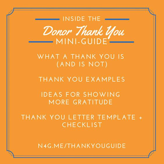 Best Donor Thank You NOte I have EVER Gotten donor stewardship - fund raiser thank you letter