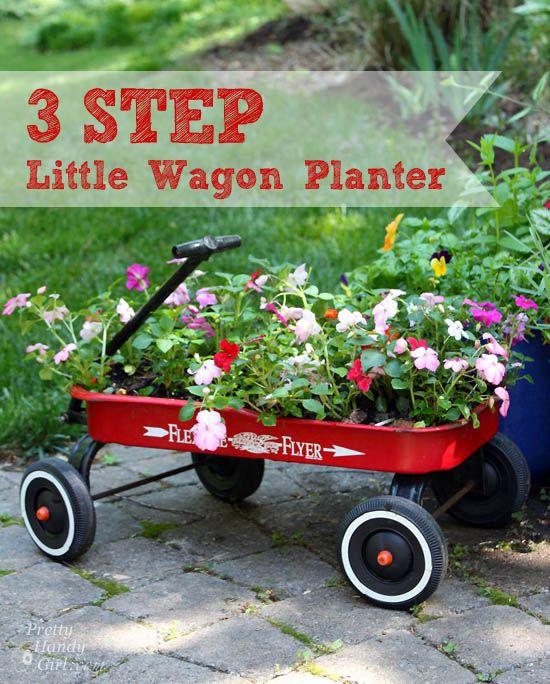 3 Step Little Wagon Planter | Creative Planter | Pretty Handy Girl