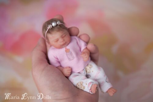 Solid Silicone Tiny Tally Prototype 1 Full Body Mini Baby Girl Reborn Art Doll Small Baby Dolls Silicone Baby Dolls Art Dolls