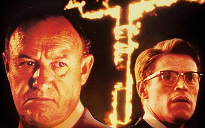 "Gene Hackman as Agent Rupert Anderson, in the film ""Mississippi Burning"" (pictured here with co-star Willem Dafoe)"