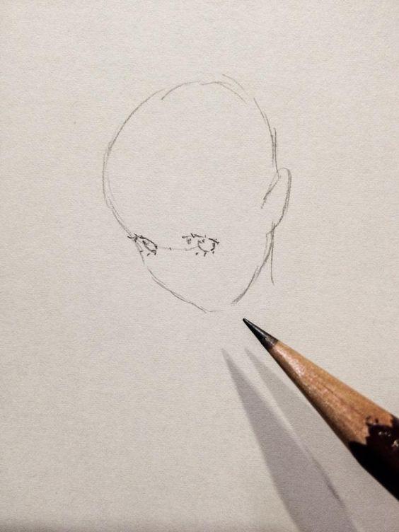 目の描き込み。