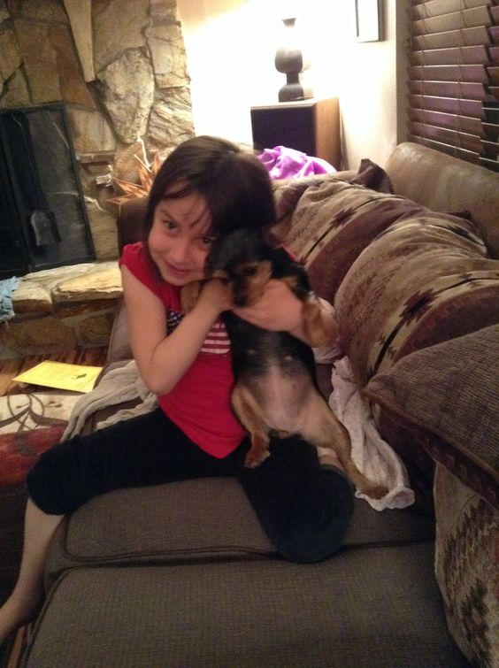 This is my little sister and my dog Sadie!