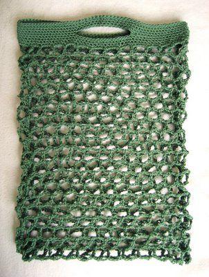 Crocheted Bag: Hexagon Stitch