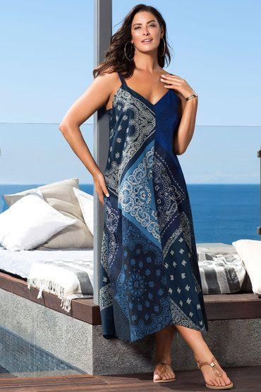 Sara Trapeze Hem Maxi Online Shop Ezibuy Plus Size Dresses