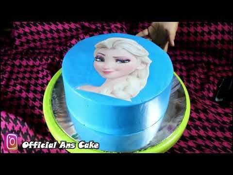 Cara Menghias Kue Ulang Tahun Frozen Mudah Dan Sederhana Dengan Gambar Print Youtube Menghias Kue Kue Ulang Tahun