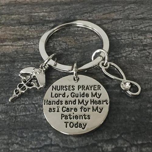 Nurse Prayer Keychain