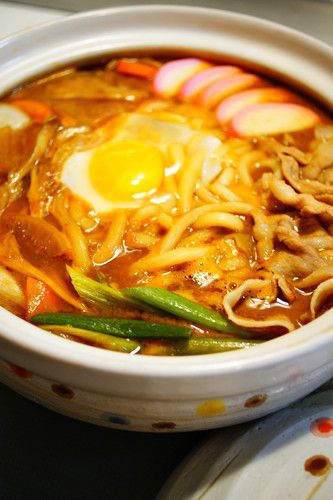 Stewed Miso Udon Hot Pot