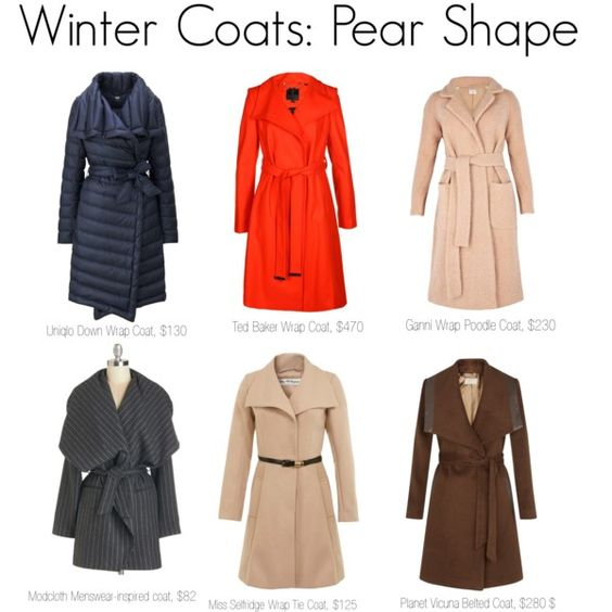 Fall and Winter coats for the Pear Body Shape