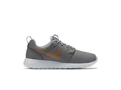 Nike Roshe Run Grey And Gold