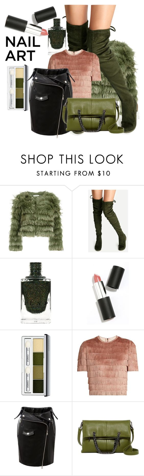 """throw, show & go"" by daincyng ❤ liked on Polyvore featuring beauty, Alice + Olivia, WithChic, Sigma, Clinique, Raey, Sorial and nailedit"
