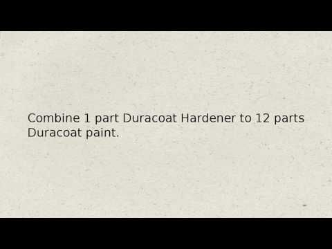How To apply duracoat