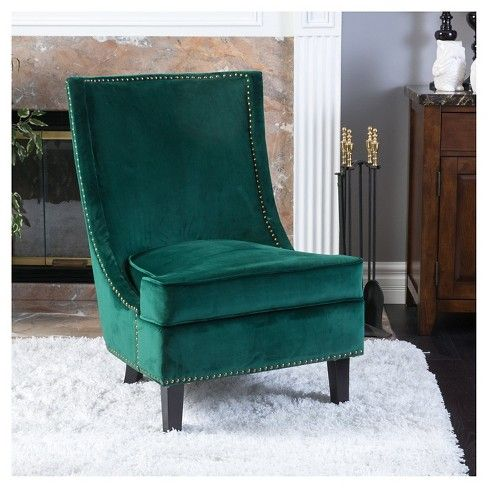 Carole New Velvet Single Sofa Accent Chair Green Christopher Knight Home Target Single Sofa Green Furniture Living Room Living Room Chairs