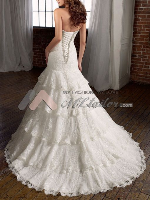 Stunning mermaid lace bridal gown