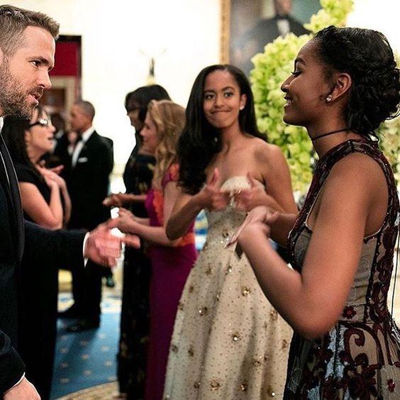 State Dinner 2016 #statedinner #blackgirlmagic #blackgirlsrock #maliaobama #obama #michelleobama #barackobama #sashaobama #POTUS #FLOTUS #firstfamily
