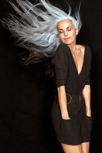 Yasmina Rossi is my template for aging gracefully...and with awesome eyebrows: