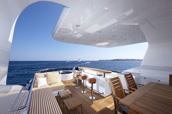 Luxurious Exterior Of The Heesen Super Yacht Life Saga