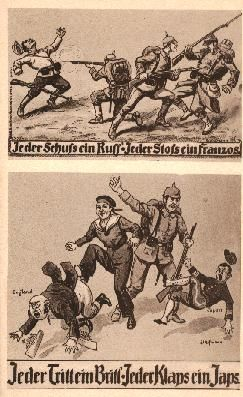 Historische Fotos Erster Weltkrieg Karikaturen