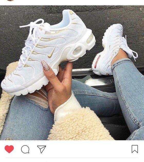 Shoes White Gold Nike Gold And White Nike Nike Shoes Sneakers Gold And White Air Max Nike Sneakers Nike Tns Red Nike Tns Nike Shoes Women White Nikes Sneakers