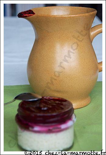 Riz au lait vanillé et son coulis de fruit rouge