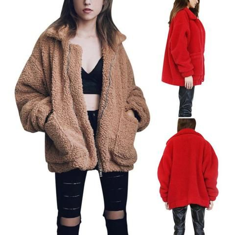 Womens Coats And Jackets Liraly Fashion Vest Winter Warm Hoodie Outwear Casual Coat Faux Fur Zip Up Sherpa Jacket