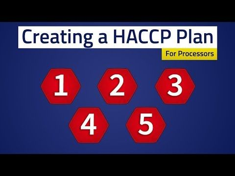 Food Safety Creating A Haccp Plan Youtube Food Safety How To Plan Safety