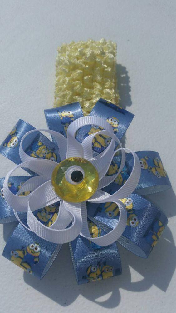 Minions baby girls infant crochet headband  https://www.etsy.com/listing/245274279/minions-inspired-baby-girl-newborn
