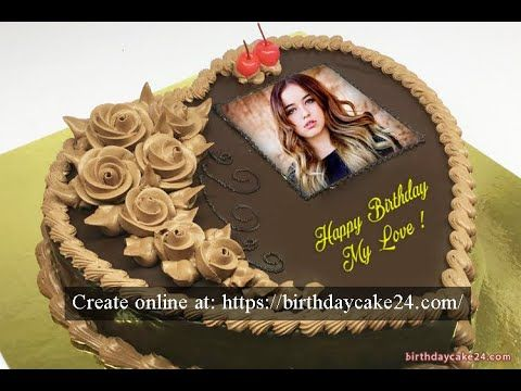 Romantic Birthday Cake For Lover With Name And Photo Romantic