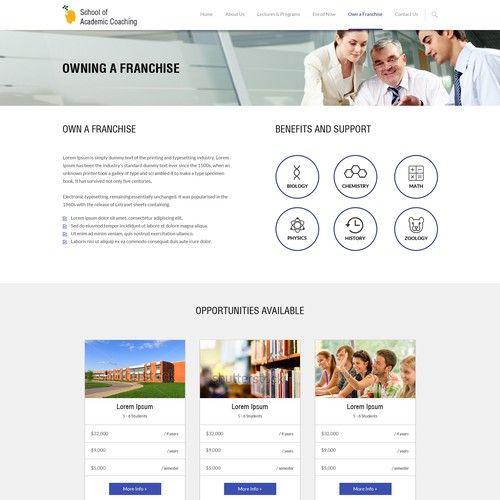 Designing An Australian Tutoring Franchise Company Web Page Design Contest Design Web Page Winning Contest Design Page Design Webpage Design