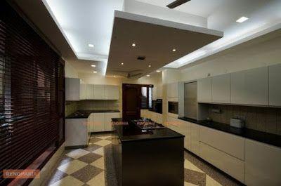 Modern Pop False Ceiling Designs For Kitchen Interior With Lighting Pop Design For Kitchen Ceiling Design False Ceiling Design Kitchen Ceiling Design