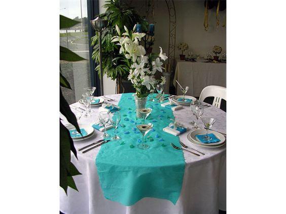 decoración de boda turquesa