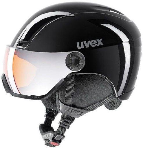 Uvex Hlmt 400 Visor Black Kask Narciarski 58 61cm Visor Black Helmet