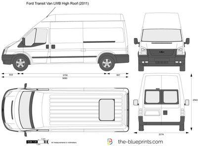 Ford Transit Van Lwb High Roof Vector Drawing In 2020 Ford Transit Ford Transit Camper Ford Transit Conversion
